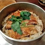 安芸路 酔心 - [料理] 穴子釜飯 (蓋を取った所) アップ♪w