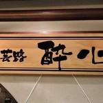 安芸路 酔心 - [外観] お店 玄関横 看板のアップ♪w
