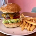 BURGER&MILKSHAKE CRANE - 「エッグチーズバーガー」1300円