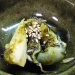 94117437 - お通し つぶ貝と山芋の海苔山葵和え