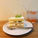 アフターアワーズ - ブドウのショートケーキ&グレープフルーツソーダ。