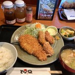 とんかつ とんQ - やまと豚ロース&カキフライ定食(2018.10)