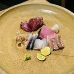 れんげ料理店 - 刺身盛り合わせ