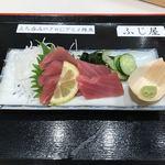 立ち喰い魚 ふじ屋 - 生キハダマグロ造り380円(税込)