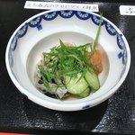 立ち喰い魚 ふじ屋 - 鯨のコリコリポン酢200円(税込)