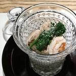 和食Labo 新た - 海老と秋茄子の利休煮