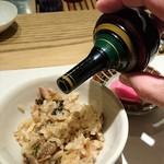 和食Labo 新た - 二杯目は粉山椒をピリッと効かせて…