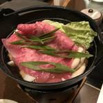 串揚三昧 幸華 - 黒毛和牛の赤身と旬菜の小鍋