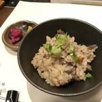 串揚三昧 幸華 - 牛肉ごぼうの炊き込みご飯