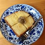 カフェ ド  珈茅 - 栗みつトースト