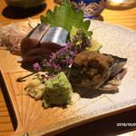 藤もと - 秋刀魚の造り