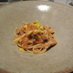 リストランテ カノフィーロ - ポルチーニ茸とフレッシュトマトのペスカトーラロッソ リングイネ