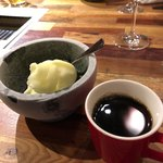 焼肉ぽんがLA - りんごシャーベットとコーヒー