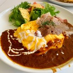 バタープレミアム - 贅沢 神戸牛 ふわふわオムカレー