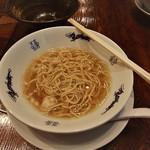 中華蕎麦にし乃 - 替え玉を入れるとまた色味が代わります。