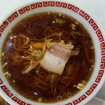幸楽飯店 - 料理写真:ラーメン(半チャーハン、ラーメンで¥750)
