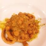 ヴェッキオ コンヴェンティーノ - スルメイカとヒヨコ豆の肝煮 バジル風味  700円