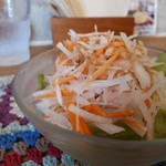 ミルク リトル ガーデン ルーム - シーフードドリアセット(1200円) サラダ