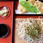 そば処 瀬戸合峡 - 岩魚天ざる蕎麦