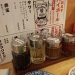 餃子ノ酒場おおえす - タレと突き出し