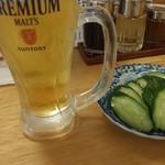 餃子ノ酒場おおえす - 生ビール