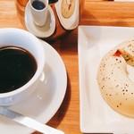 ベーグル カフェ クマナカ - コーヒーセット