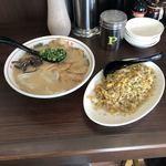 石田一龍 - 濃厚炙りチャーシューワンタンメン チャーハンセット
