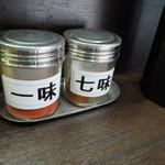 峠の蕎麦 - 潔い「卓上調味料」