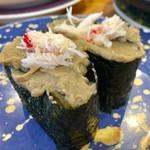 沼津魚がし鮨 - かにみそ軍艦 350円