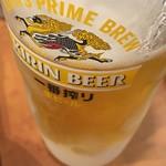 一番どり - 生ビール (*´ω`*)