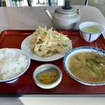 SS - 天やさい定食(¥590) とん汁変更(+¥120)
