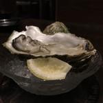 一砂 - 本日の牡蠣【岩手県 大槌産 真牡蠣】生牡蠣 600円。