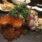 一砂 - 一砂名物 こぼれ寿司 1,690円。