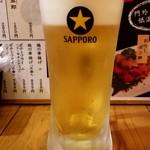 大衆酒場 五郎 - 生ビール:250円税別