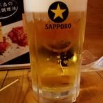 大衆酒場 五郎 - 生ビールメガジョッキ:490円税別