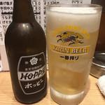 晩杯屋 - ホッピーセット白370円(2018.09)
