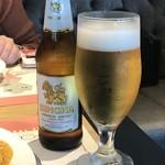 マンゴツリー東京 - はい!お決まりのビールです(*´ω`*)