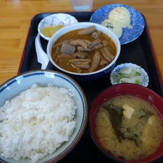 永井食堂 - 料理写真:(2018/7月)「もつ煮定食」