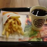 バーガーキング - フレンチフライ&ホットコーヒー