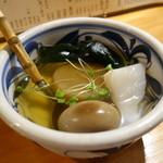 飛魚 - 煮玉子、大根、こんにゃく