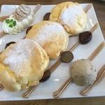 カフェ ジョリオン - モンブランパンケーキ