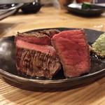 『肉山』 - 熊本あか牛のランプ肉