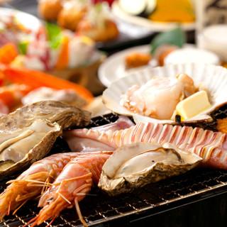 美味い楽しい海鮮焼き!今日は魚で一杯やりますか!