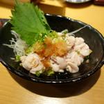 板バ酒バ魚 - たら白子ポン酢(780円)レアでおいし~
