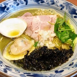 㐂九八 - 料理写真:貝と鴨の潮そば