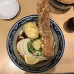 梅田 釜たけうどん - ちく玉天ぶっかけ(小)冷300g 750円