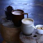 ファブカフェ - 2018シーズナルドリンク、ホットショコラとほうじ茶ラテ
