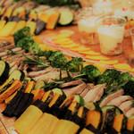 ファブカフェ - パーティープラン-豚方ロースのコンフィと季節の野菜
