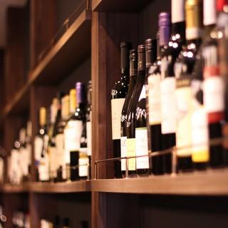 【種類豊富なワイン】スパークリング、白、ロゼ、赤など