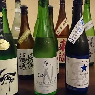 """""""日本酒""""は20種以上をご用意。御料理に合うドリンクメニュー"""